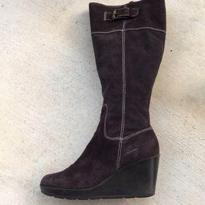 Cole Haan full zip suede boots